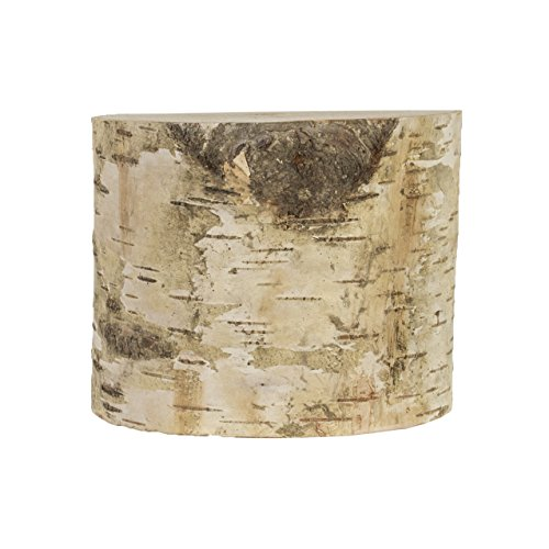 Walnut Hollow Large Birch Round for Home Decor, Accentpiece, Weddings, & Art & Craft - Bark Tree Walnut