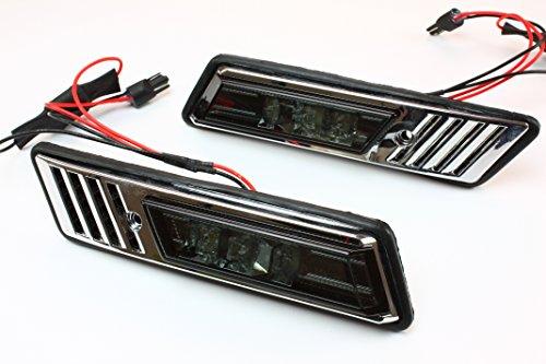 LED Side Marker Lights Crystal Smoke for 88-96 BMW E34 5-Series & 92-96 E36 3-Series 95 Bmw E34 Led