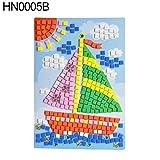 Maserfaliw Toys Lovely Cartoon Animal Car 3D EVA Foam Mosaic Painting Sticker Kids Puzzle Craft - HN0005B