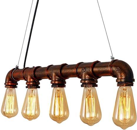 Faretto a LED per corridoio Balcone Plafoniere Sala da pranzo Ristorante bar Rustico Lampadario Arte del ferro,Bronzo Faretto industriale antico a soffitto