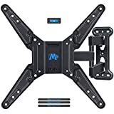 Mounting Dream Full Motion TV Wall Mount Bracket with Perfect Center Design for most of 26-55 Inch LED, LCD, OLED Flat Screen TV, Mount with Swivel Articulating Arm, up to VESA 400x400mm MD2413-MX