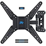 Mounting Dream Full Motion TV Wall Mounts Bracket with Perfect Center Design for 26-55 Inch LED, LCD, OLED Flat Screen TV, TV Mount with Swivel Articulating Arm, up to VESA 400x400mm MD2413-MX