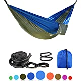 Image of Balichun Parachute Hammock with 2 Tree Straps(Per 14 Loops) - Lightweight Portable Nylon Single Hammocks for Travel Camping Hiking Backpacking