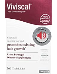 VIVISCAL EXTRA STRENGTH SUPPLEMENTS 60 TABLETS (2 Pack)