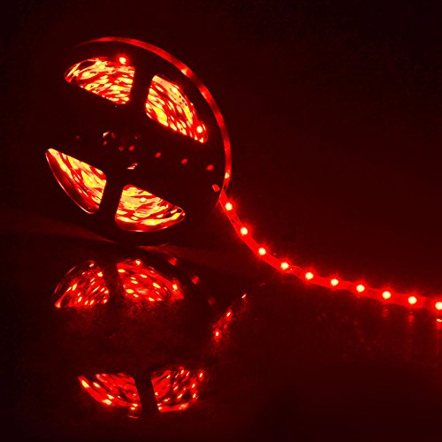 Wall of Dragon LED Strip Light 5m 60LEDs/m Single Color 3528SMD Flexible LED Tape 12V Power Supply 2A,Warm White,White,Red,Blue,Green,Yellow