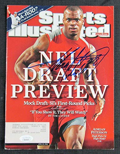 (Adrian Peterson Signed Auto Autograph Sports Illustrated Magazine 4/30/07 Issue - Autographed NFL Magazines)