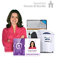 Church ID Card Printer System for Religious Organizations: Everything you need for your Church IDs: AlphaCard printer, Church ID design software, ID Supplies