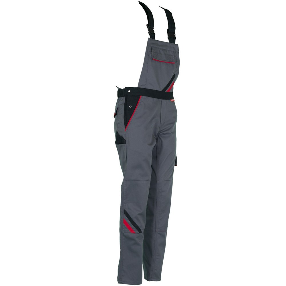 Slate//Black//Red Planam 2339034 Size 34Highline Woman Dungarees