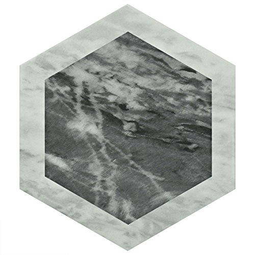 SomerTile FEQ8BXG Murmur Bardiglio Hexagon Porcelain Floor and Wall Tile, 7'' x 8'', Geo by SOMERTILE (Image #3)
