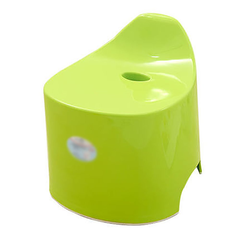 Children's Bathroom Stool Candy-colored Cartoon Stool Baby Bath Stool Bathroom Slip Stool Home Small Stool Thickening Stools Shoes Stool 323536cm (Color : Green) by XUE