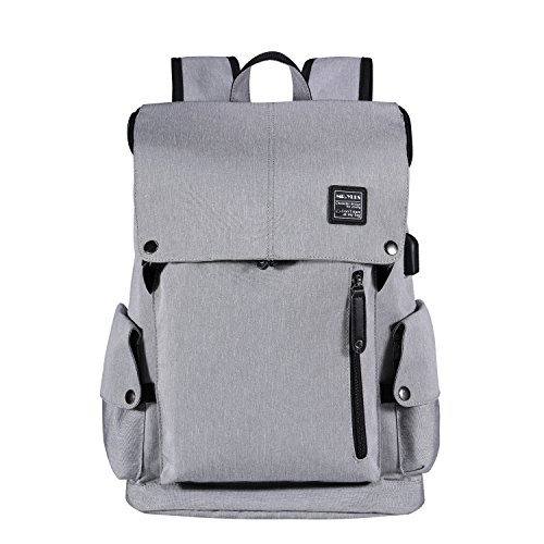 MR.YLLS Business Laptop Backpack Anti theft Tear/water Resistant Travel Bag School/College Backpack fits up to 15 Inch Macbook Computer USB Charging Backpack (gray all)
