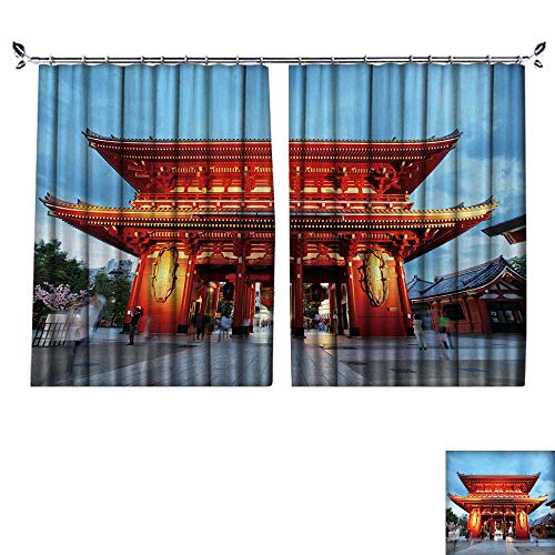 DESPKON Decoration Polyester Material Tokyo Japan,Asakusa Temple for Children's Room W72 x L84