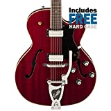Guild Starfire III with Guild Vibrato Tailpiece Hollow Body Electric Guitar with Case (Cherry Red)