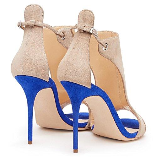 Sandales Talon Marche de de Femmes Soire Confort Taille Talon d'affaires d't pour Chaussures PU Robe Une Point Mariage Travail XUE Formel Mariage Fte Chaussures 40 Stiletto et Une Couleur 8Yxqnzvw