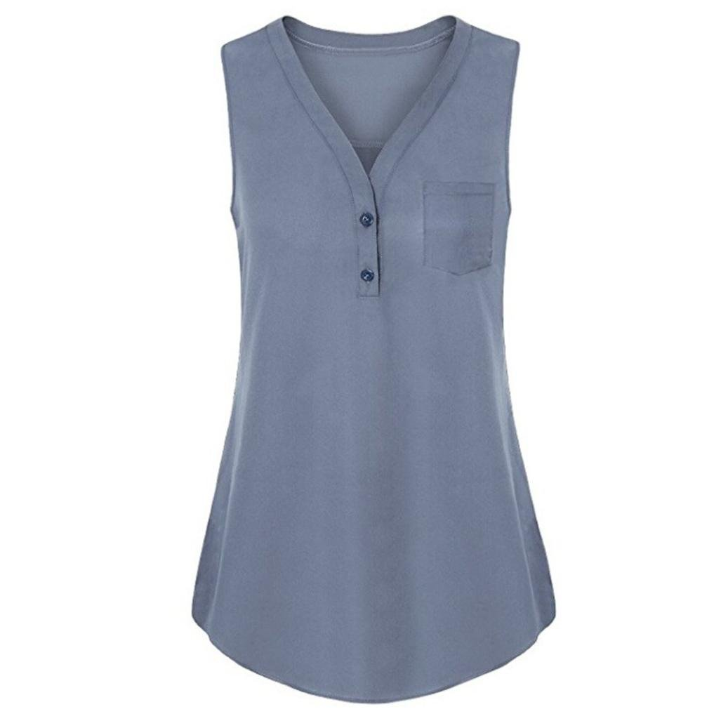 Amazon.com: Tank Tops for Womens, FORUU Summer Loose V Neck Button Pocket Solid Cami Vest: Clothing