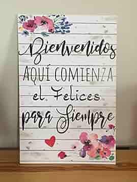 Cartel Bienvenidos a nuestra Boda flores azules y rosas ...