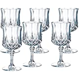 King International Crystal Glass Heavy Base Long Whiskey Glasses with Long Stage Set of 6 | 350 ml