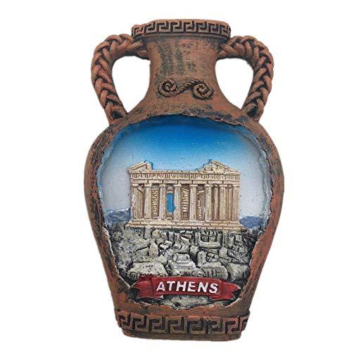 Fridge Magnet Parthenon Acropolis of Athens Greece 3D Resin Handmade Craft Tourist Travel City Souvenir Collection Letter Refrigerator -
