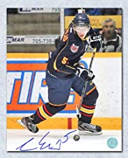 Aaron Ekblad Barrie Colts Autographed OHL Rookie Action 8x10 Photo