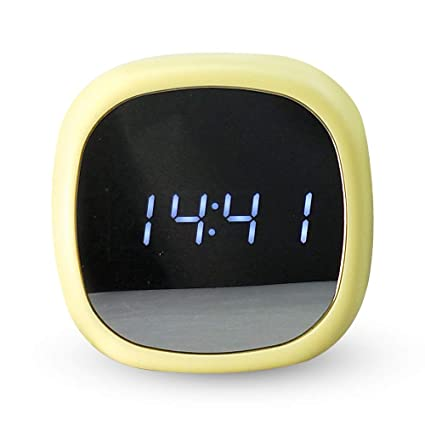 Amazon.com: kangle LED Mirror Alarm Clock,Digital Clock ...