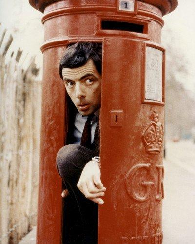 Mr. Bean Rowan Atkinson comedy classic Royal Mail box 8x10 Promotional (Royal Mailbox)