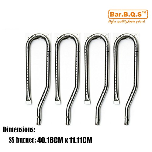 Bar.b.q.s 13361 (4-pack 401.65mm) Remplacement du brûleur en acier inoxydable pour certains modèles de gril à gaz Jenn-air et Nexgrill