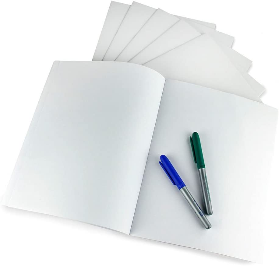 Hygloss Products White Blank Books – Great Books for Journaling, Sketching, Writing & More – Fun for Arts & Crafts - 8.5 x 11 Inches - 10 Pack