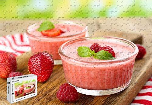 (PigBangbang,20.6 X 15.1 Inch,Premium Basswood Large Size -Strawberry Raspberry Dessert Mousse - 500 Piece Jigsaw Puzzle)