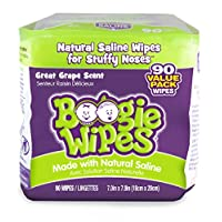 Boogie Wipes Baby Hand and Face Wet Wipe Sensitive Saline Tissue, Grape Scent...
