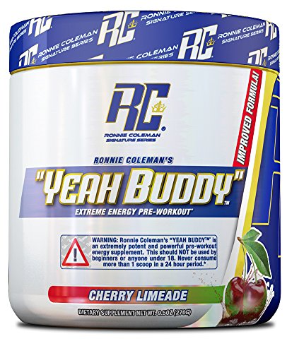 Ronnie Coleman Signature Series Yeah Buddy 30 Serve Pre-Workout Supplement, Cherry Limeade, 9.5 Oz