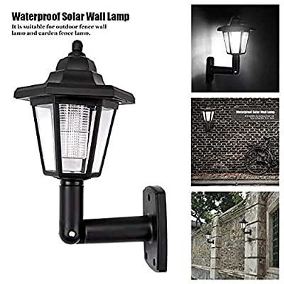 Onefa Solar Power LED Light Path Way Wall Landscape Mount Garden Fence Lamp Outdoor