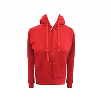 YOKI Women's Fleece Zip Up Sweater with Sherpa Lined Hood. Red ...