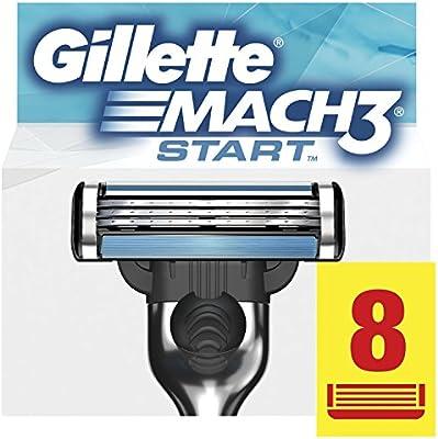 Gillette Mach3 cuchillas Start para afeitadora para hombre – 8 ...