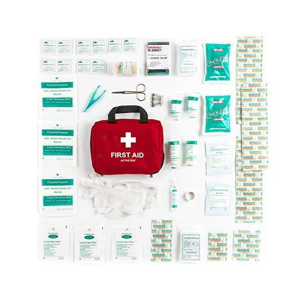 51SAboFIQeL Erste Hilfe Set - 90-teiliges Premium Erste-Hilfe-Set - enthält Sofort Kühlpacks, Augenspülung, Rettungsdecke für zu…