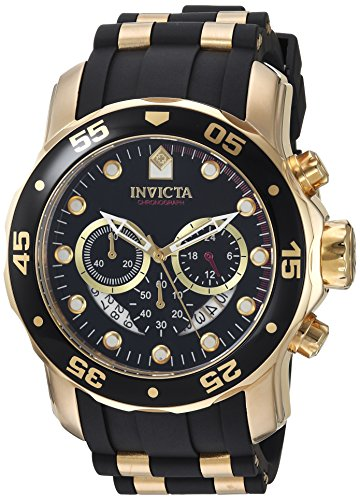 (Invicta Men's 6981 Pro Diver Analog Swiss Chronograph Black Polyurethane Watch)