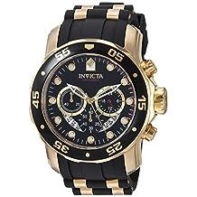 Invicta Men's 6981 Pro Diver Collection Chronograph Black Dial Black Polyurethane Watch