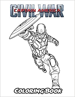 Amazon.com: Captain America Civil War Coloring Book ...