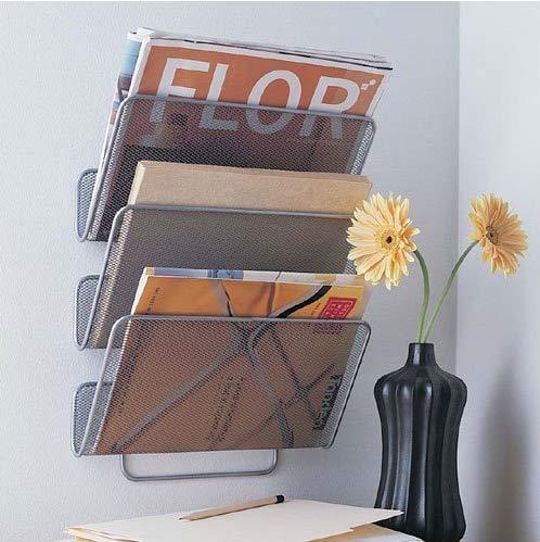 Grand support mural 3étages en maille à suspendre, pour livres, magazines, dossiers, à la maison ou au bureau SHINE UMBRELLA LIMITED