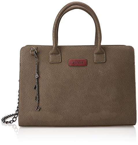 Silvian Heach Carryall Pilaves, Borsa a Mano Donna, 40 x 27 x 18 cm (W x H x L) Marrone (Brown Chocolate)