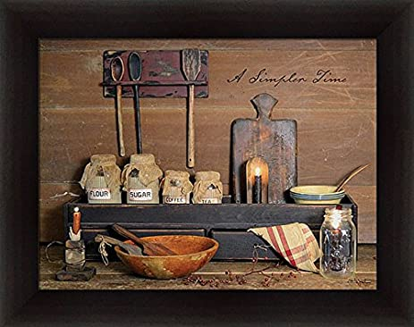 Delightful A Simpler Time Billy Jacobs Primitive Country Kitchen Decor Framed Art  Print Wall Decor Picture