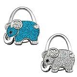 GuaziV Theme Designed Shoulder Handbag Folding Purse Holder Hangers Hooks Set(Elephants) (Style 3)