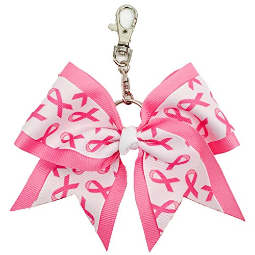 The Ultimate Bow - Pink Ribbon Keychain Bow - Breast Cancer Awareness
