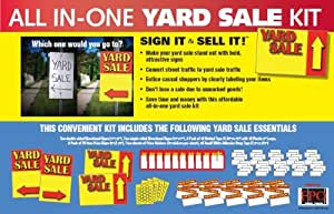 amazon com all in one yard garage sale sign and sticker kit home kitchen