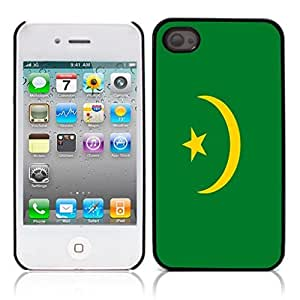 Flag of Mauritania Hard Plastic and Aluminum Back Case for Apple iphone 4 4S