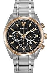 Citizen CA4017-59E Men's Silver Titanium Band with Black Dial Watch