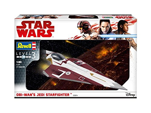 Star Wars Level 3 Model Kit 1/80 Jedi Starfighter 10 cm Revell Kits (Model Starfighter Jedi)