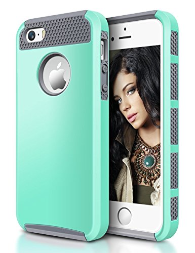 iPhone SE Hybrid Case, iPhone 5S Case Design, Easylife iPhone 5 Cases Hard Cover TPU Rugged Bumper Heavy Duty Defender Armor Shockproof Anti-Scratch Protective for Apple iPhone SE 5S 5(Teal (5s Online Halloween)
