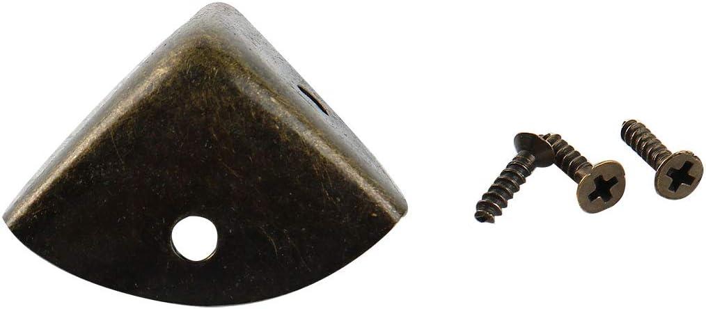 sourcingmap Protector de esquina montada con tornillos Muebles de metal Soporte de /ángulo tono bronce 4pcs