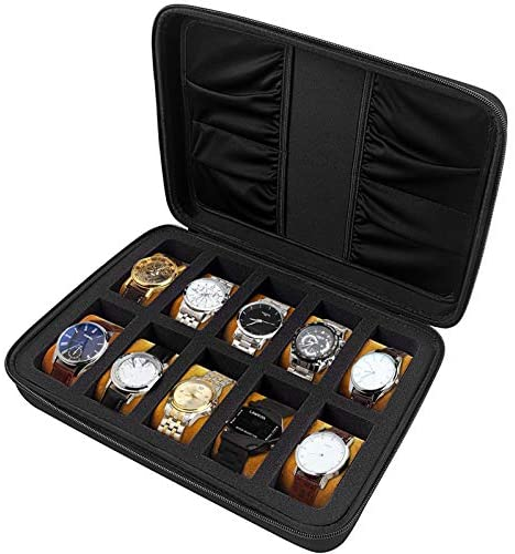 10 Slots Watch Box Organizer/Men Watch Display...