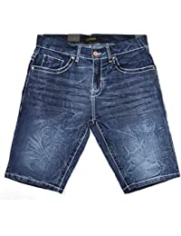 Slim Jean Shorts for Men, Men's Stretch Casual Denim Shorts Slim Fit